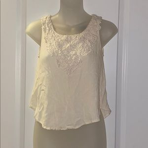 Forever21 Lace Detail Crepe Tank
